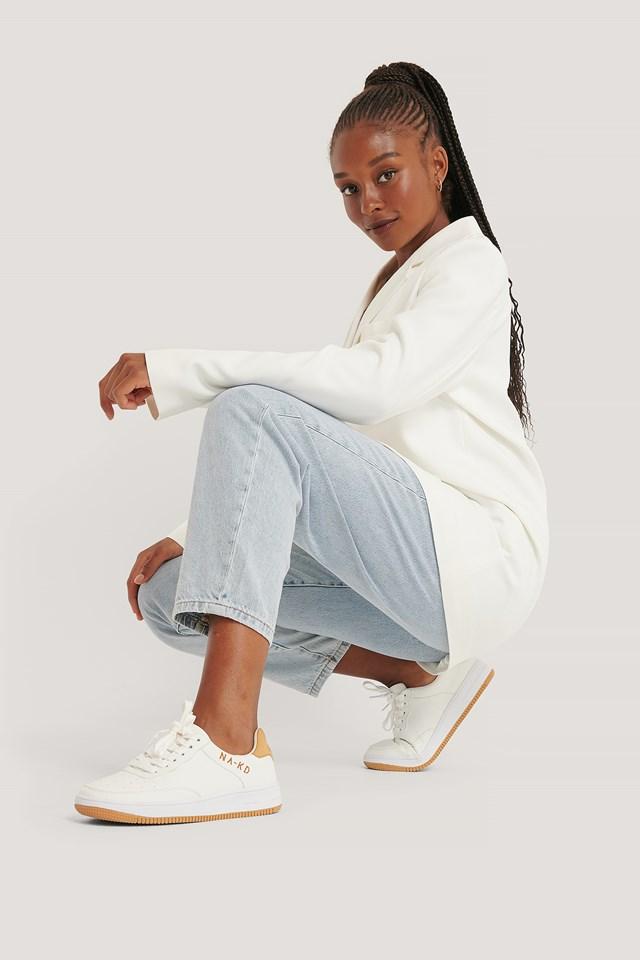 NA-KD Logo Sneakers White