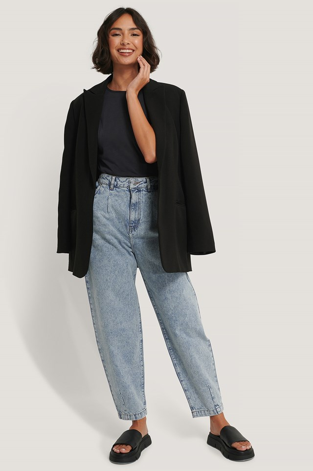 Organic Front Dart Slouchy Jeans Acid Blue