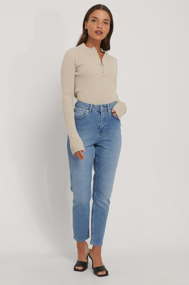 Light Blue Organic Mom Jeans