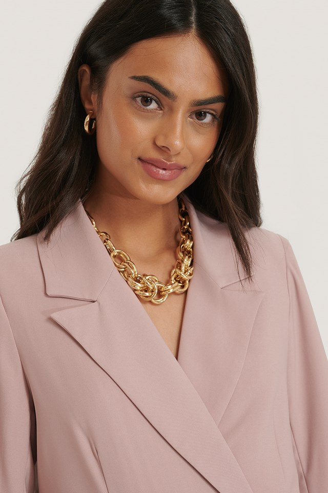 Oversize Chunky Chain Necklace Gold