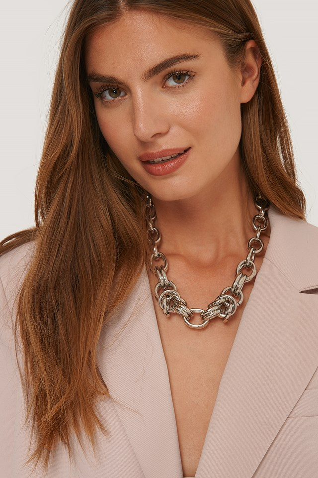 Oversize Chunky Chain Necklace Silver