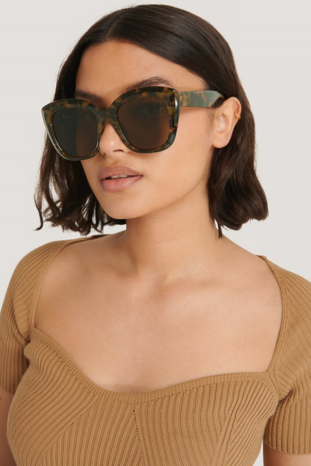 Oversize Rounded Cateye Sunglasses Tortois
