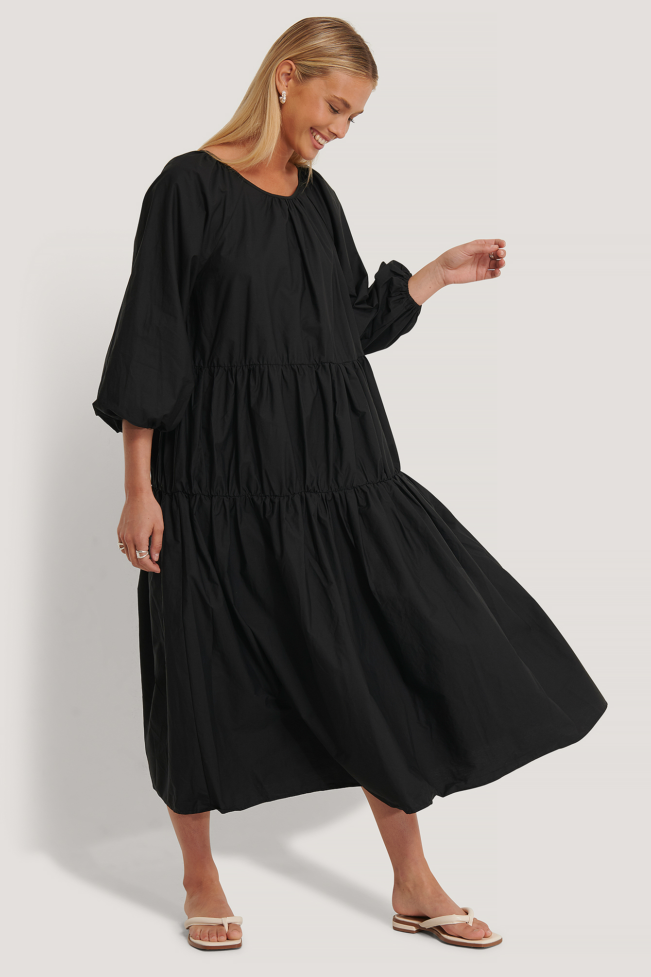 Black Oversized Cotton Dress