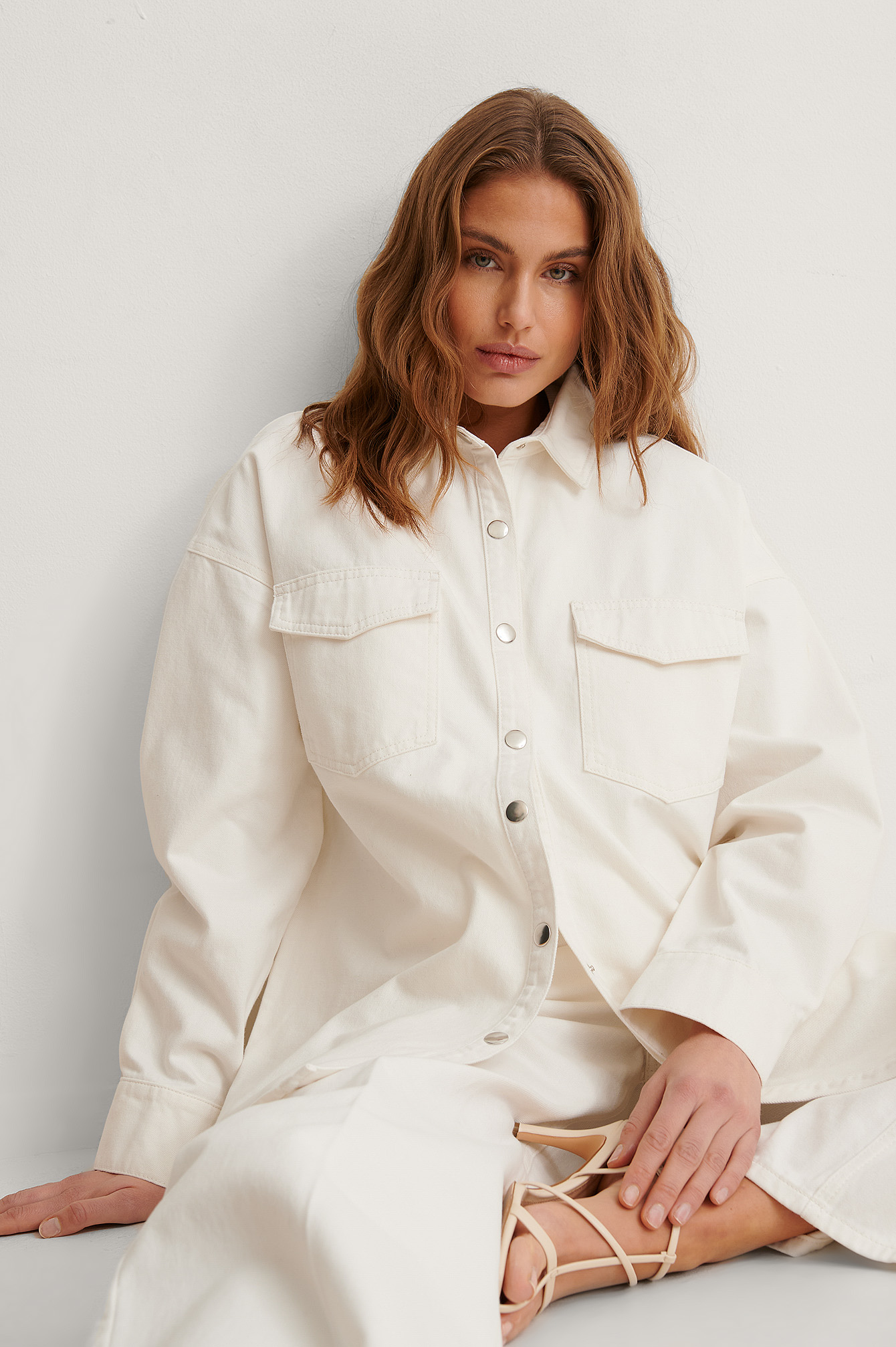 Ecru Organic Oversized Denim Overshirt