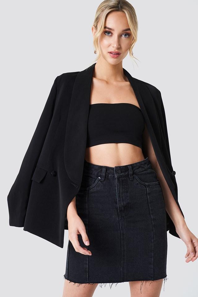 Panel Skirt Black