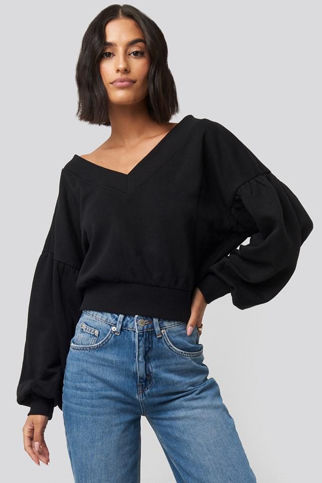 Krótka Bluza Black