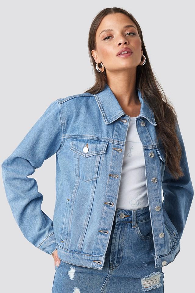 Regular Fit Denim Jacket Mid Blue