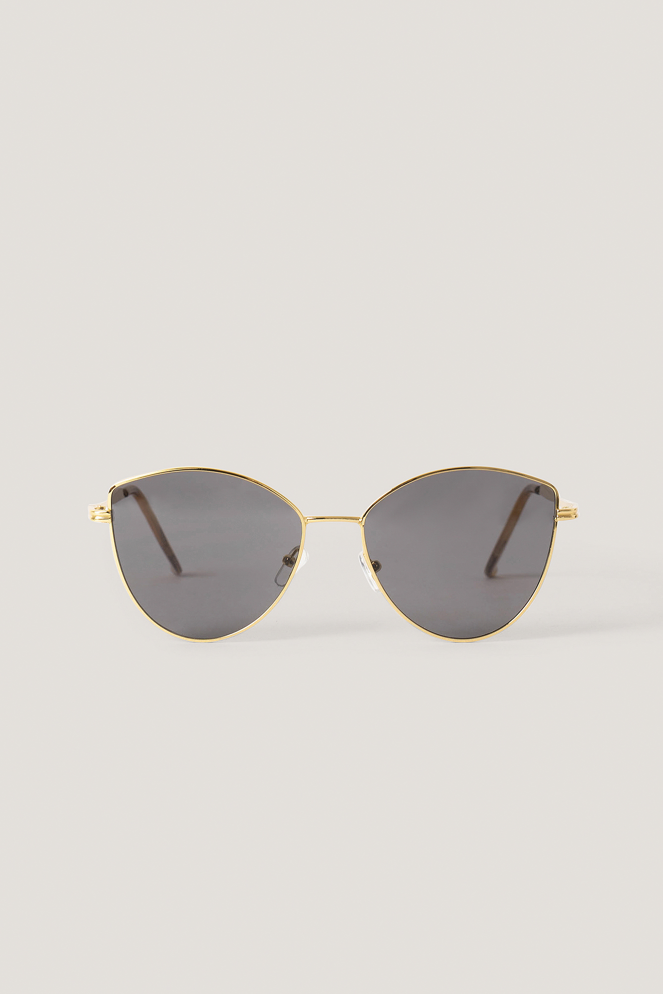 Gold Retro Cateye Sunglasses