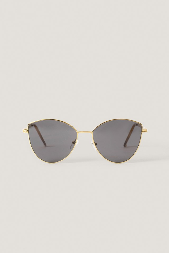 Retro Cateye Sunglasses Gold
