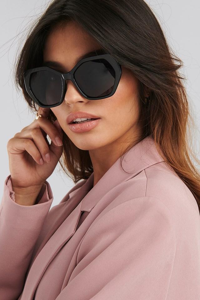 Retro Octagon Sunglasses Black