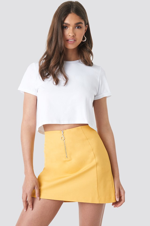 Yellow Ring Puller A-Line Mini Skirt