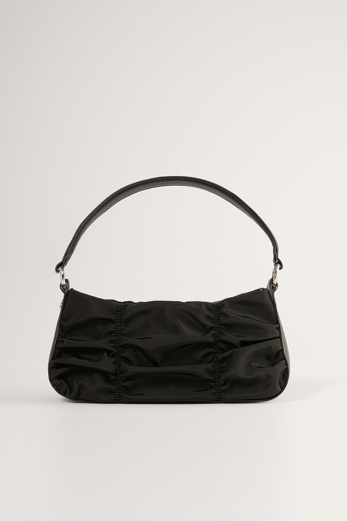 Black Rouched Shoulder Bag