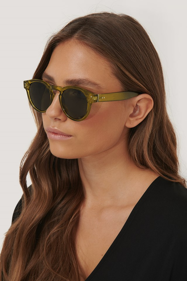 Round Frame Sunglasses Green