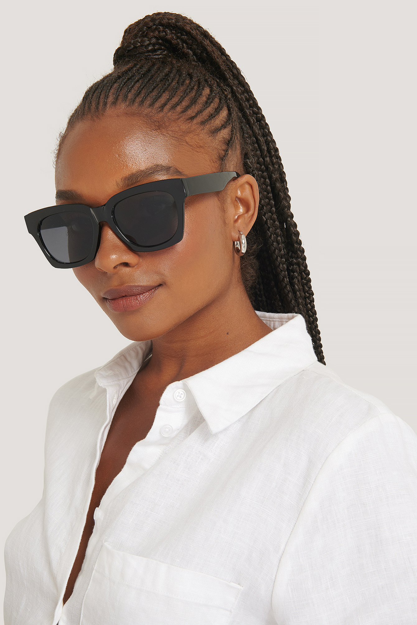 Black Rounded Squared Sunglasses