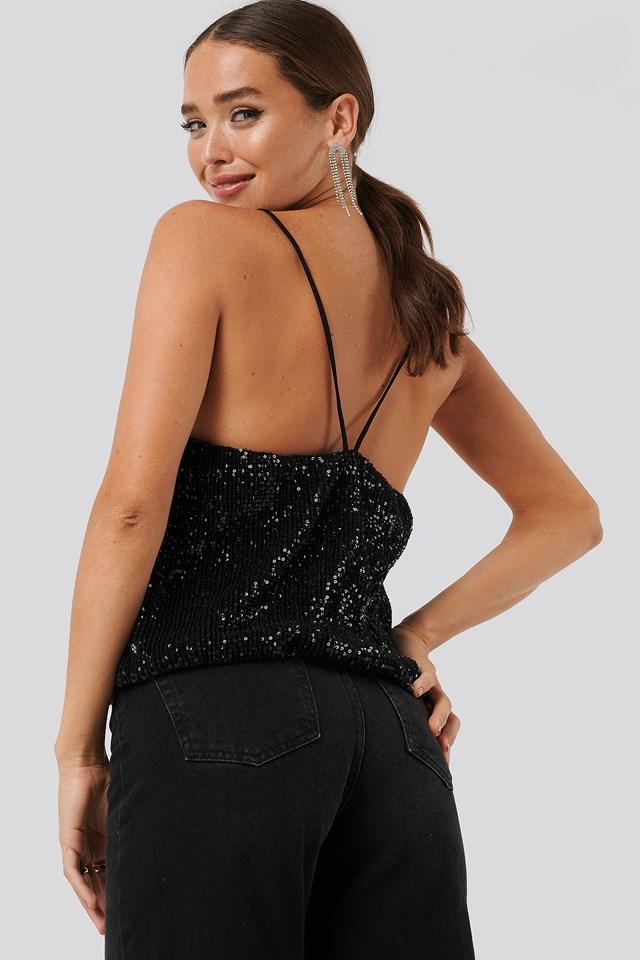 Black Sequin Singlet