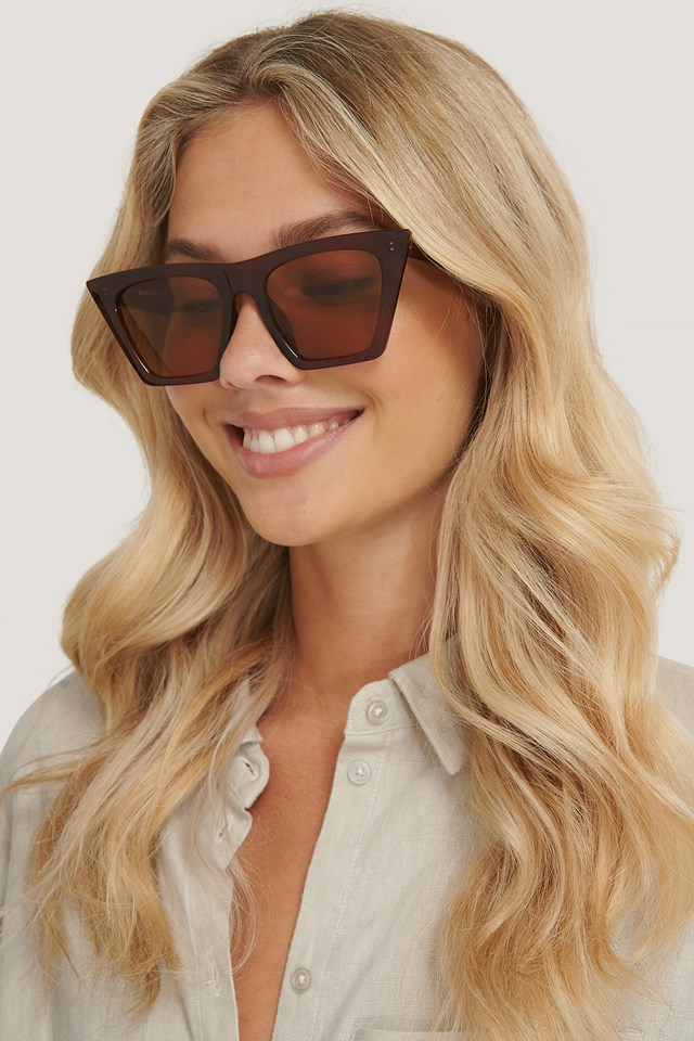 Brown Sharp Squared Sunglasses