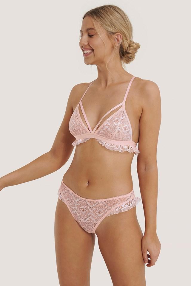 Side Flounce Lace Panty Light Pink