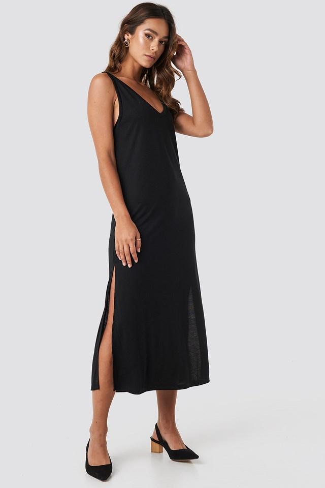 Deep Black Sukienka Midi