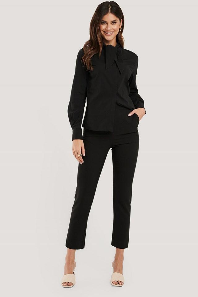 Black Slim-fit Suit Pants