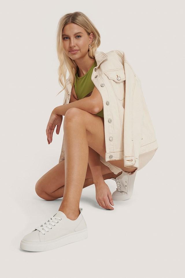 Soft Upper Basic Sneakers White