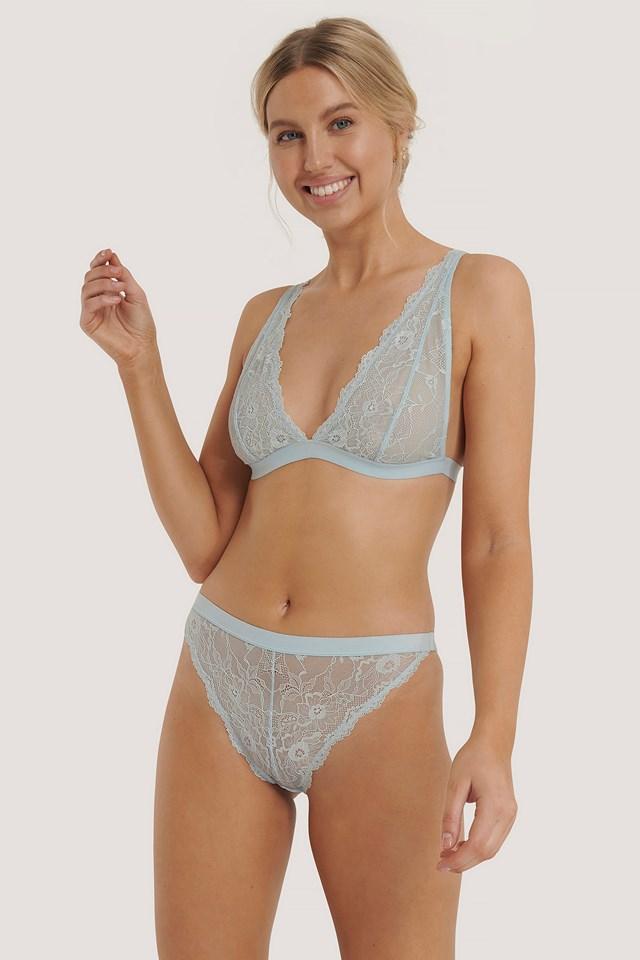 Soft Wavy Blossom High Waist Panty Light Blue