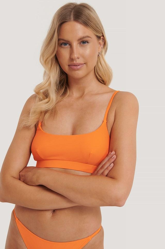 Sporty Bikini Bra Orange Flamingo