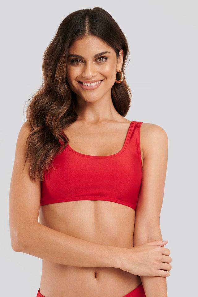 Red Sporty Bikini Top