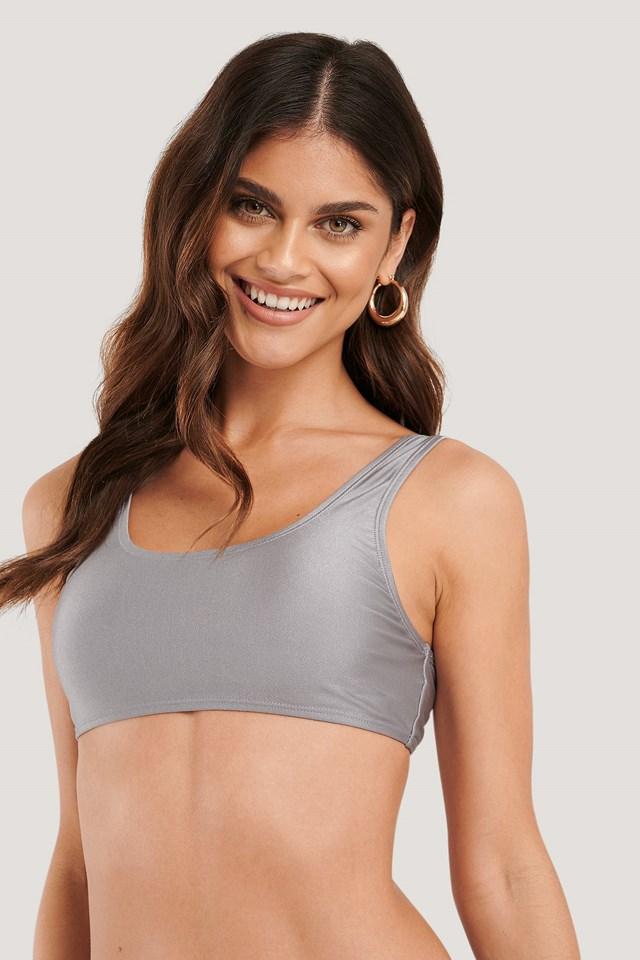 Dusty Lilac Sporty Bikini Top
