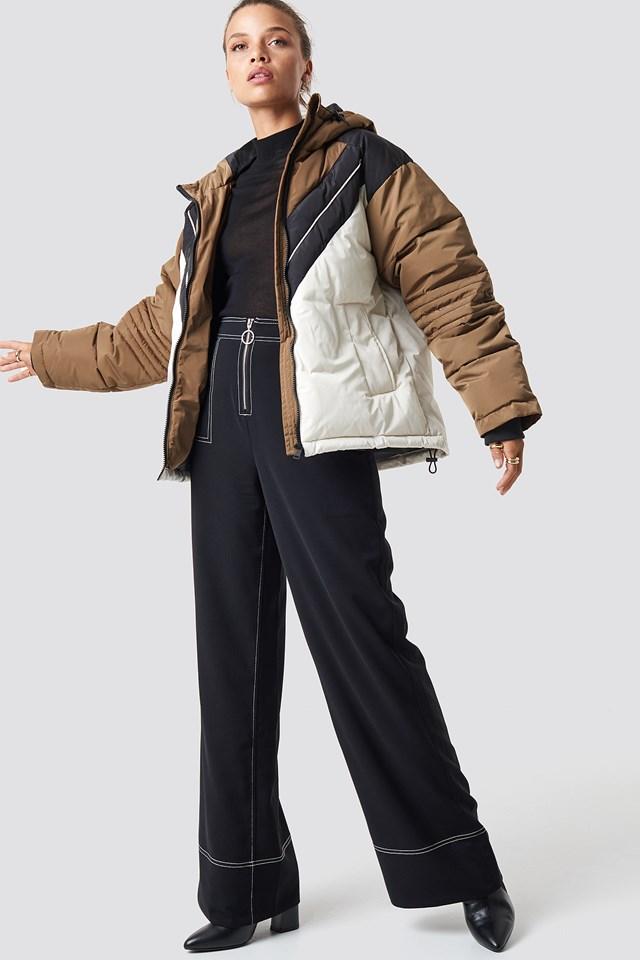 Sporty Padded Jacket White