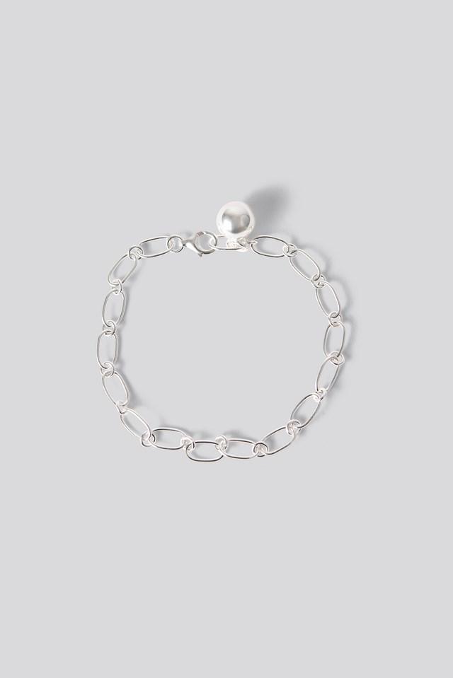 Sterling Silver Thin Chain Bracelet Silver