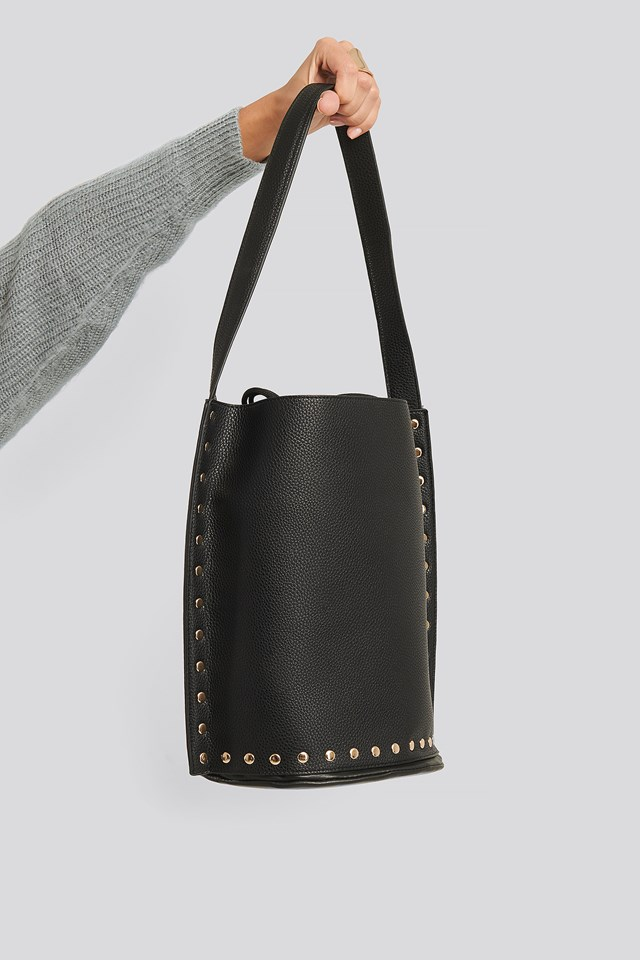 Studded Shopper Black