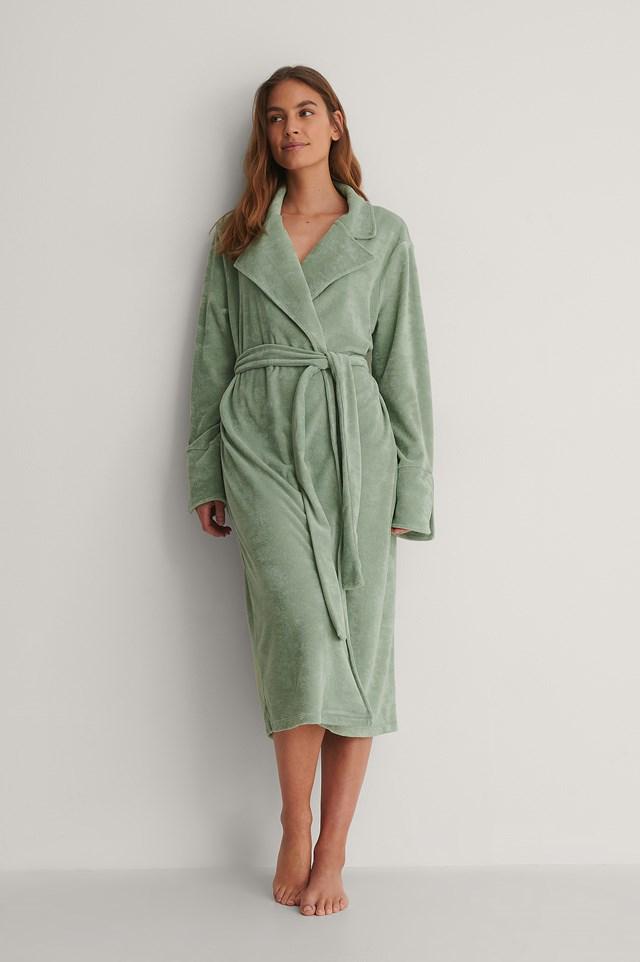Green Terry Cloth Robe