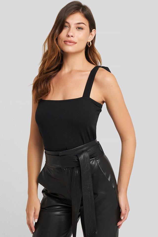 Tie Strap Top Deep Black