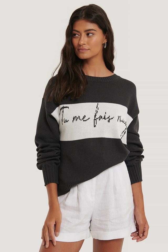 Tu Me Knitted Sweater Black