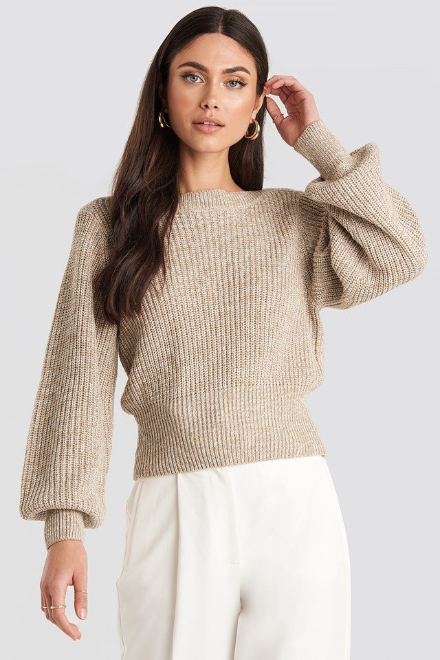 Twisted Pullover Beige