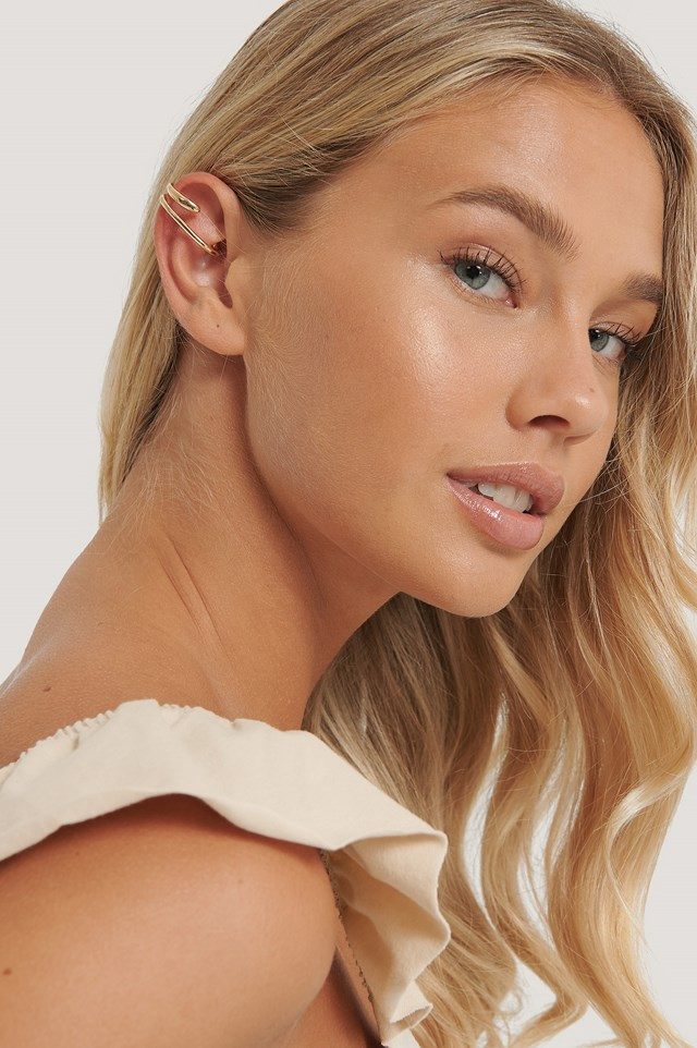 Gold Up And Down In-Ear Cuff