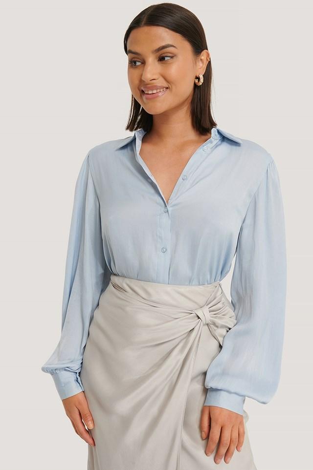 Light Blue Volume Sleeve Shirt