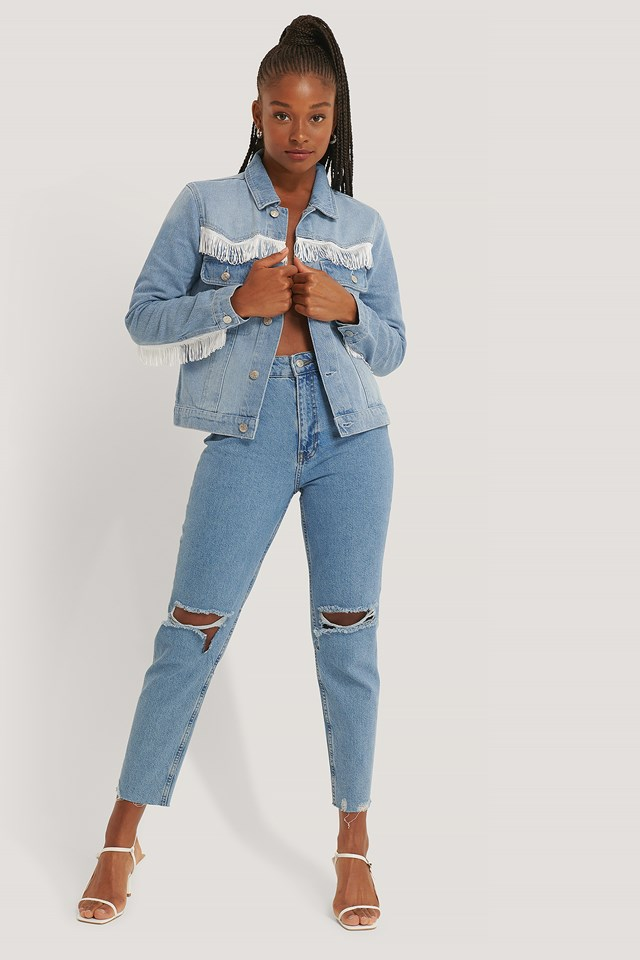 Western Denim Jacket Light Blue Wash