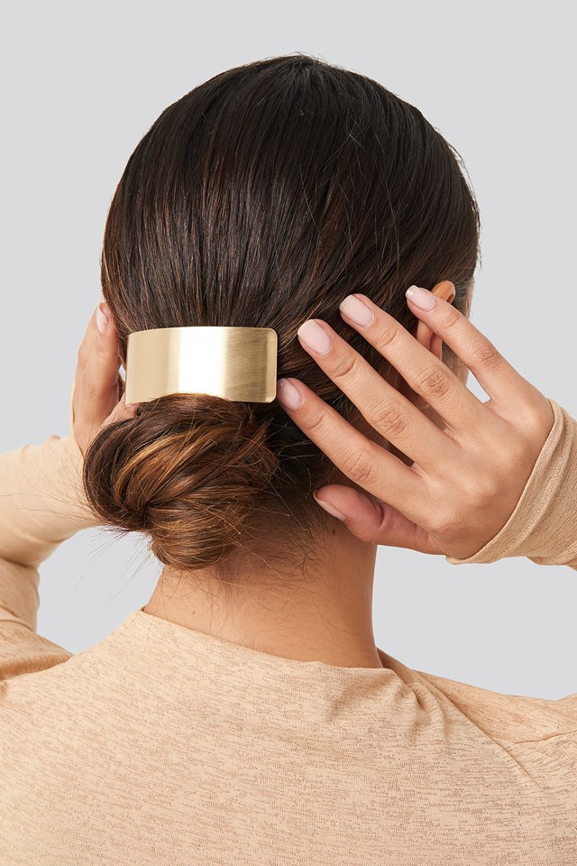 Wide Gold Hairclip Gold