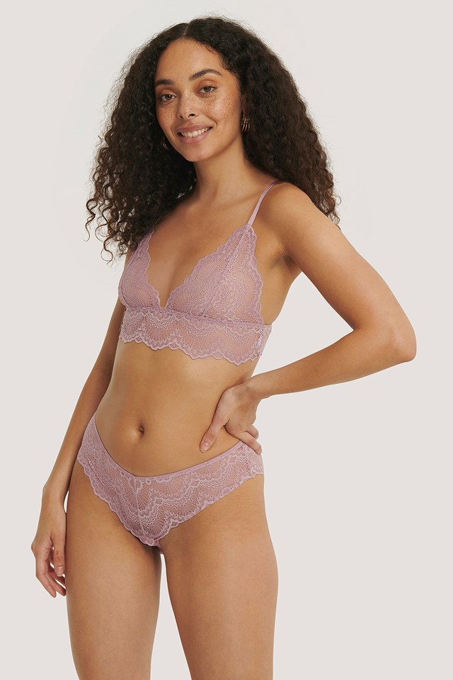 Wide Lace Hipster Dusty Purple