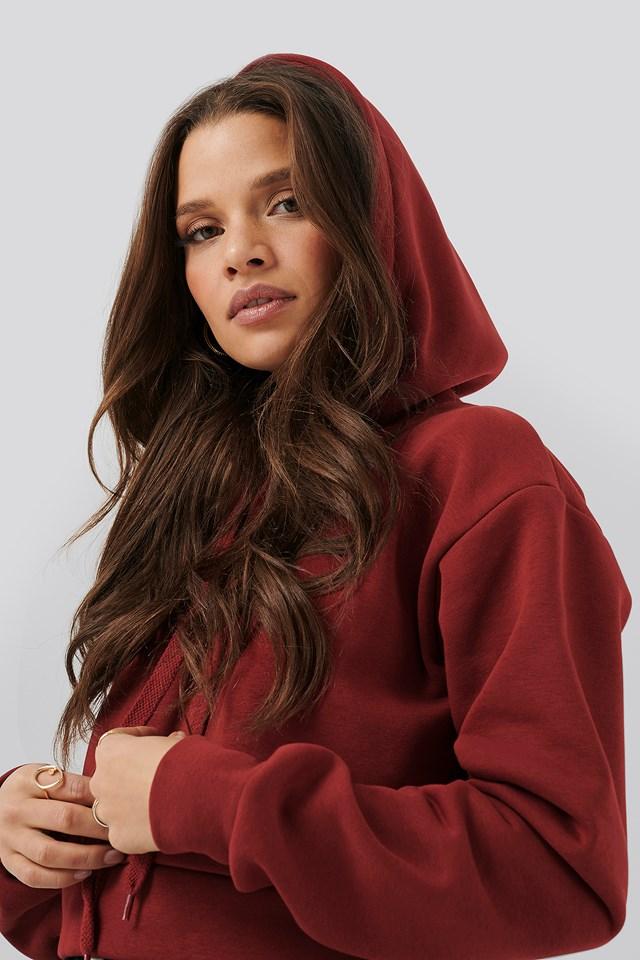Cropped Hoodie Red