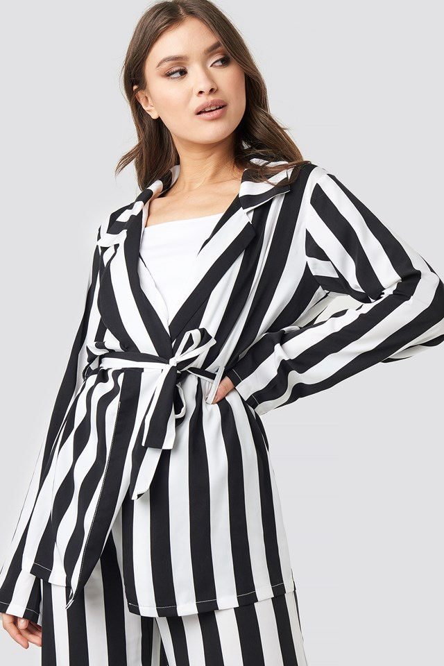 Irene Shirt Black/White Stripe