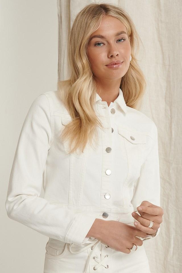 Recycled Denim Jacket White