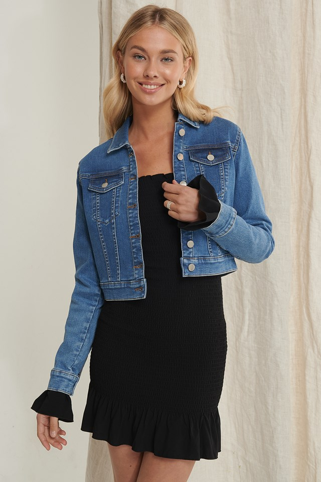 Recycled Denim Jacket Light Blue