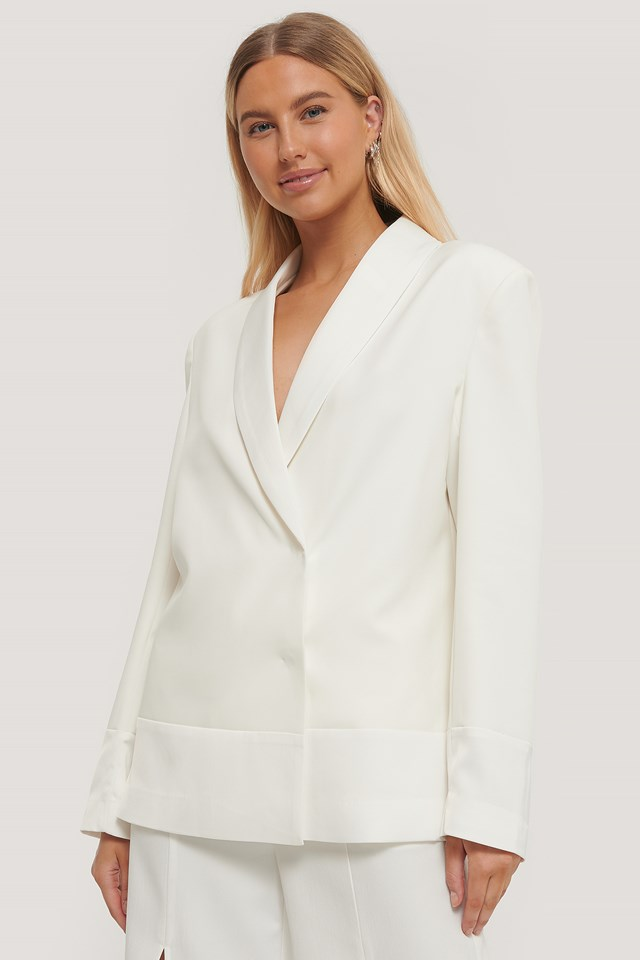 Oversized Blazer Blouse White
