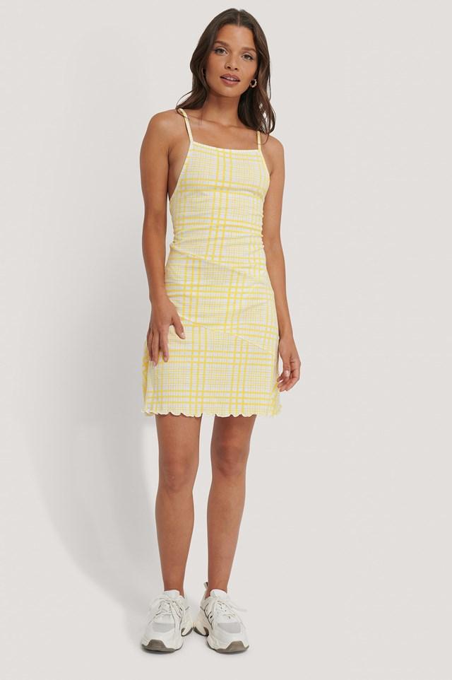 Skater Dress Yellow Print