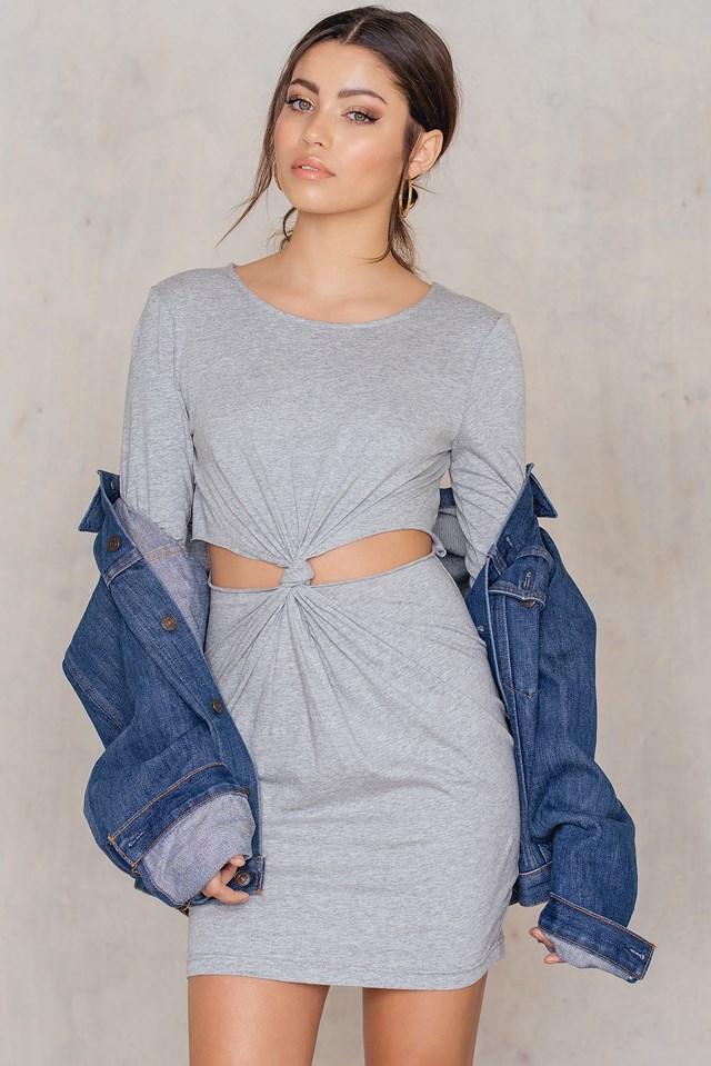 Nor Knot L/S Dress Grey