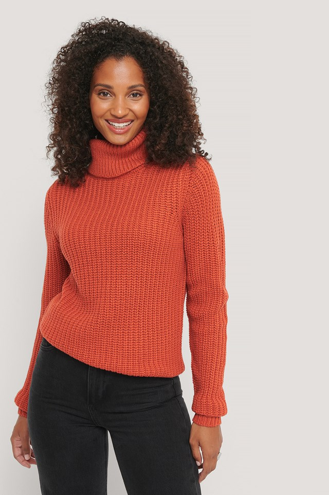 Tinelle Roll Knit Rust