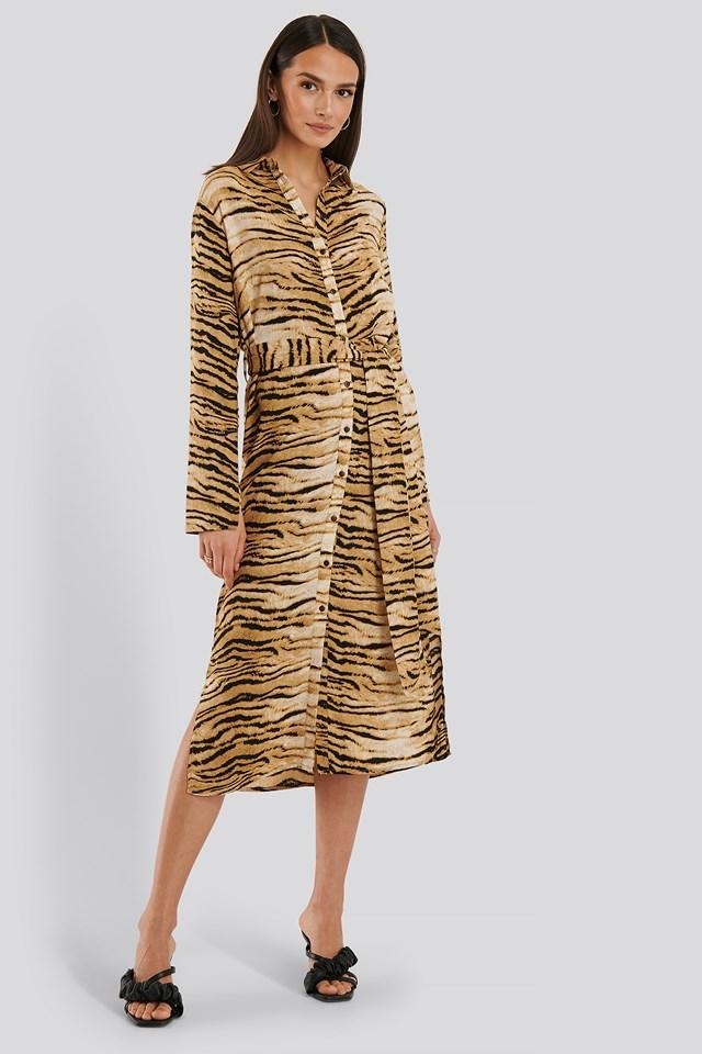 Sofi Shirt Dress Tiger