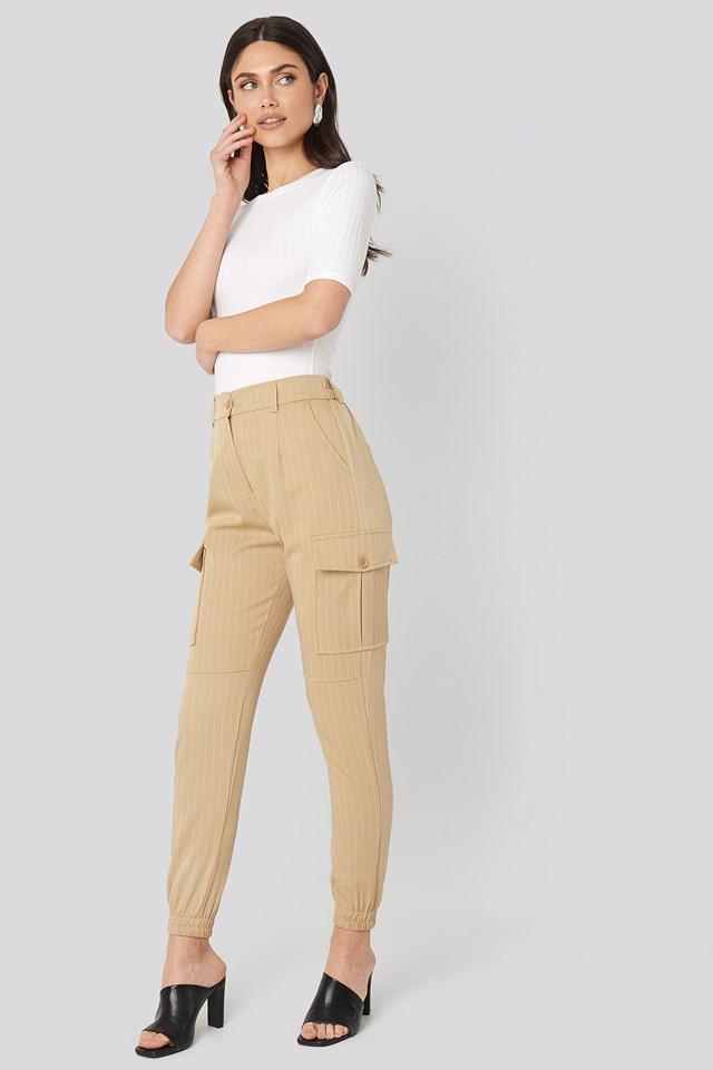 Camel/Cream Nia Pants